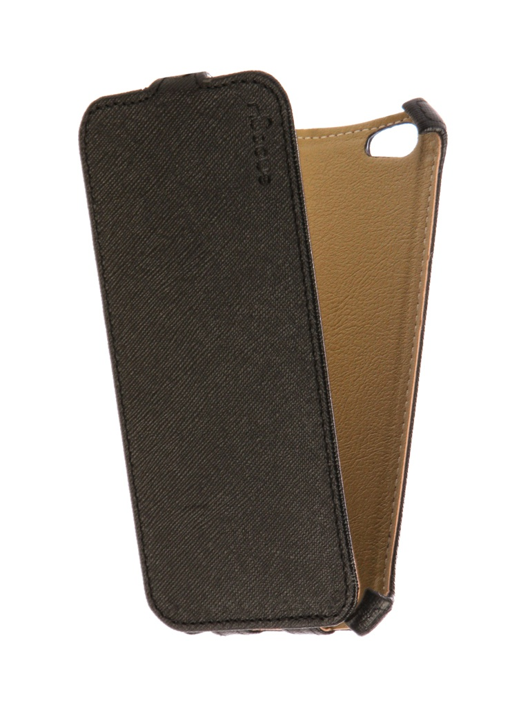 Аксессуар Чехол Snoogy для APPLE iPhone 6 / 6s иск. кожа Black SN-iPh-6/6s-BLK-LTH аксессуар чехол xiaomi redmi note 5a snoogy иск кожа black sn xia n5a blk lth