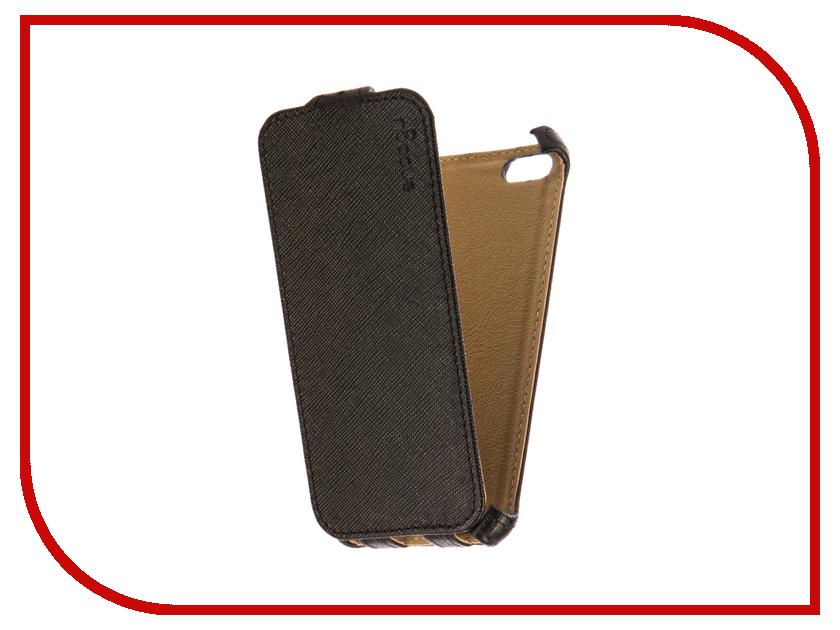 Аксессуар Чехол Snoogy иск. кожа Black для APPLE iPhone 5/5s SN-iPh-5/5s-BLK-LTH цветочный дизайн кожа pu откидная крышка бумажника карты держатель чехол для iphone 7g