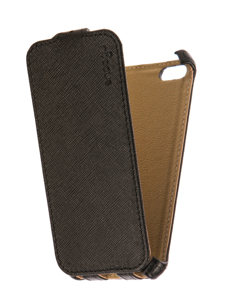 Аксессуар Чехол Snoogy для APPLE iPhone 5 / 5s иск. кожа Black SN-iPh-5/5s-BLK-LTH аксессуар чехол xiaomi redmi note 5a snoogy иск кожа black sn xia n5a blk lth