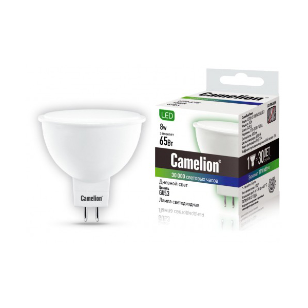 Лампочка Camelion S108 GU5.3 8W 220V LED8-S108/865/GU5.3 new touch screen for 10 inch 2 holes tablet bmxc s108 t900 s107 k107 touch panel s107 s108 s109 k107 k108