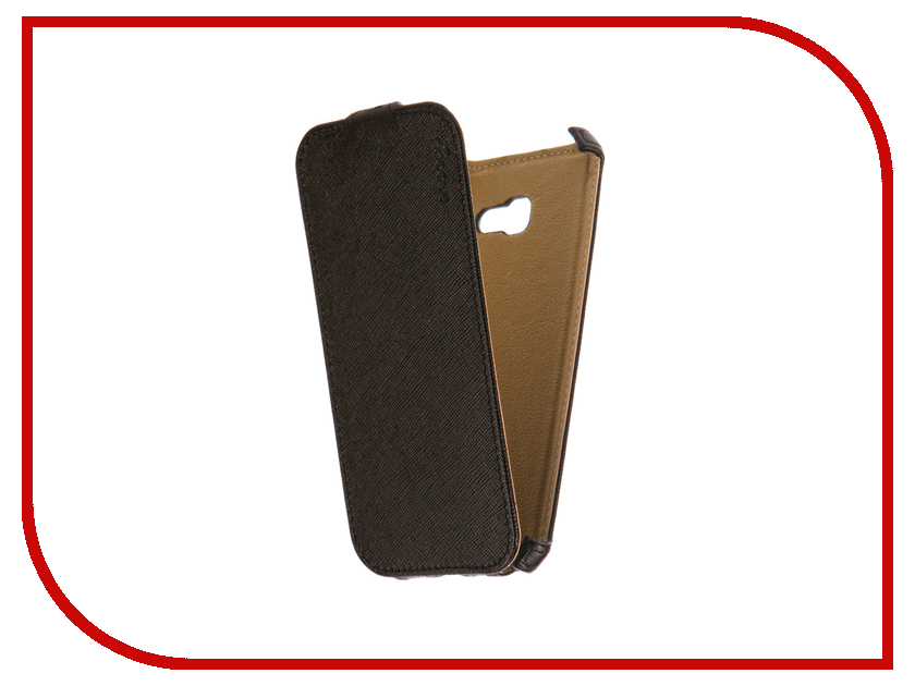 Аксессуар Чехол Samsung Galaxy A5 Snoogy иск. кожа Black SN-SMb-a5/2017/-BLK-LTH