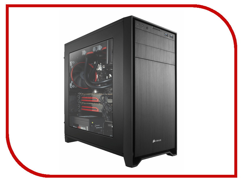 Корпус Corsair Obsidian Series 350D Window CC-9011029-WW корпус corsair obsidian series 350d window cc 9011029 ww