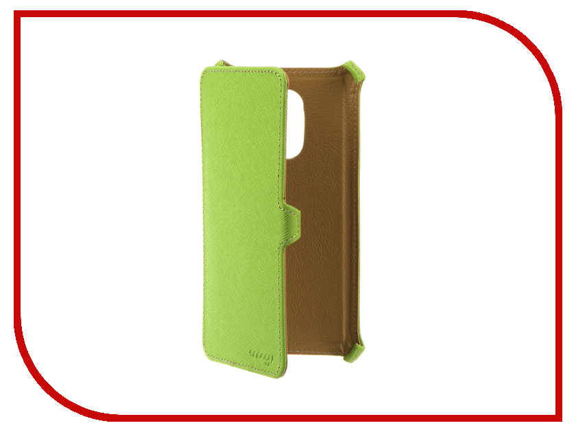 Аксессуар Чехол Xiaomi Redmi Note 4X Snoogy иск. кожа Green SN-Xiab-n4X-GRN-LTH