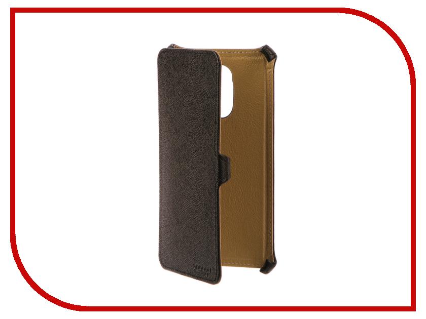 Аксессуар Чехол Xiaomi Redmi Note 4X Snoogy иск. кожа Black SN-Xiab-n4X-BLK-LTH