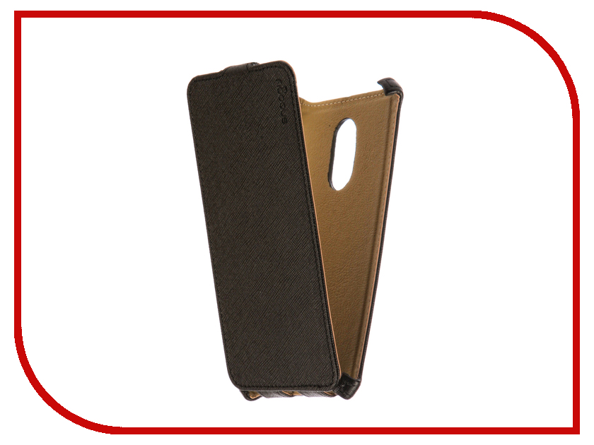 Аксессуар Чехол Xiaomi Redmi Note 4X Snoogy иск. кожа Black SN-Xia-n4X-BLK-LTH аксессуар чехол st case 4 6 5 иск кожа brown st c –smfl4 6 5 brn lth
