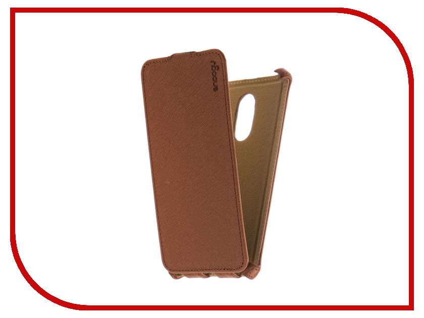 Аксессуар Чехол Xiaomi Redmi Note 4X Snoogy иск. кожа Brown SN-Xia-n4X-BRN-LTH