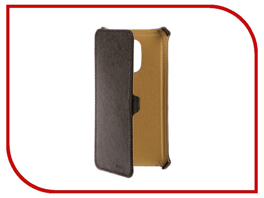 Аксессуар Чехол Xiaomi Redmi Note 4 Snoogy иск. кожа Black SN-Xiab-n4-BLK-LTH