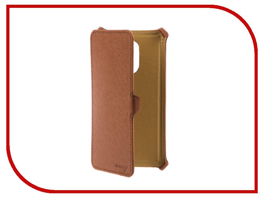Аксессуар Чехол Xiaomi Redmi Note 4 Snoogy иск. кожа Brown SN-Xiab-n4-BRN-LTH