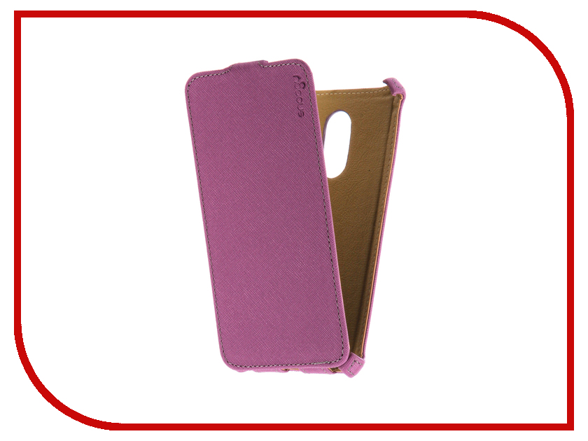 Аксессуар Чехол Xiaomi Redmi Note 4 Snoogy иск. кожа Purple SN-Xia-n4-VIOL-LTH