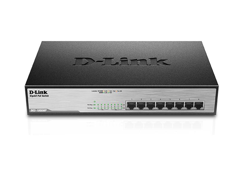 Коммутатор D-Link DGS-1008MP