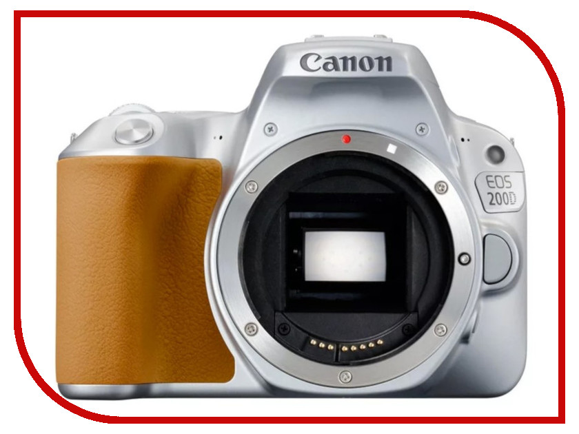 Фотоаппарат Canon EOS 200D Body Silver фотоаппарат canon eos 80d body