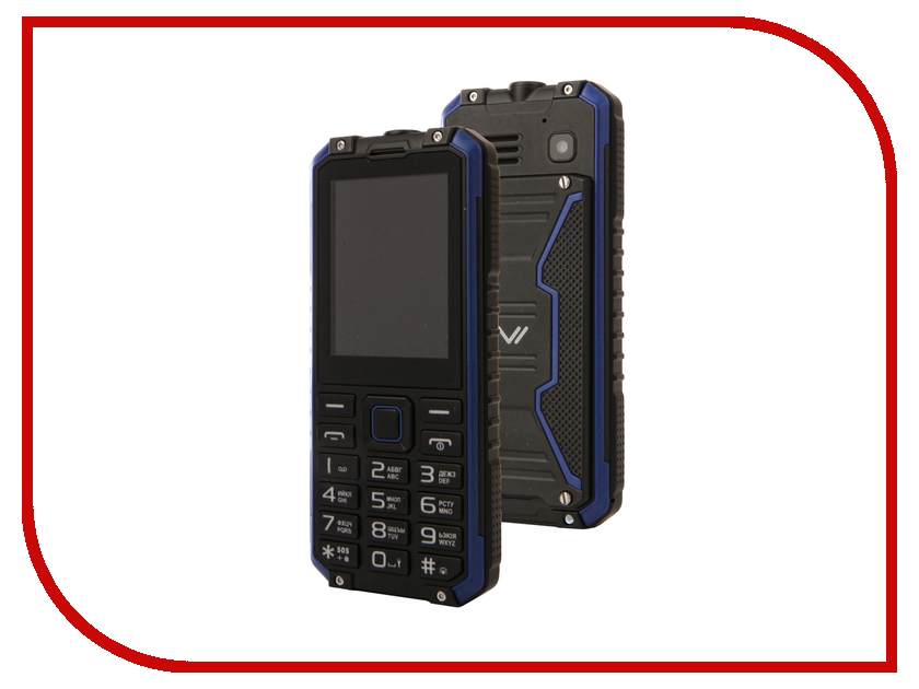 Сотовый телефон Vertex K204 IP68 Black-Blue телефон
