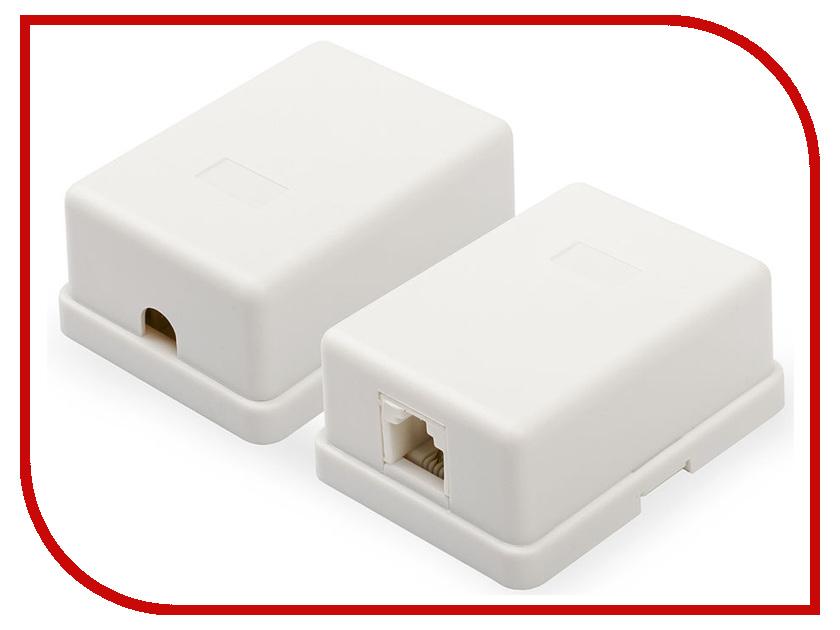 Розетка ATcom 1 порт накладная White АТ1011