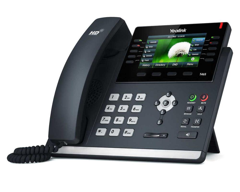 VoIP оборудование Yealink SIP-T46S 4 channels 4 gsm voip gateway goip 4 goip4 for asterisk trixbox 3cx sip proxy server voip buster