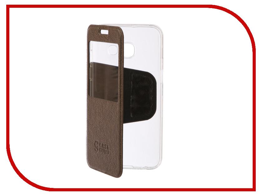 Аксессуар Чехол Samsung Galaxy A3 2017 CaseGuru Ulitmate Case Light Brown 95495