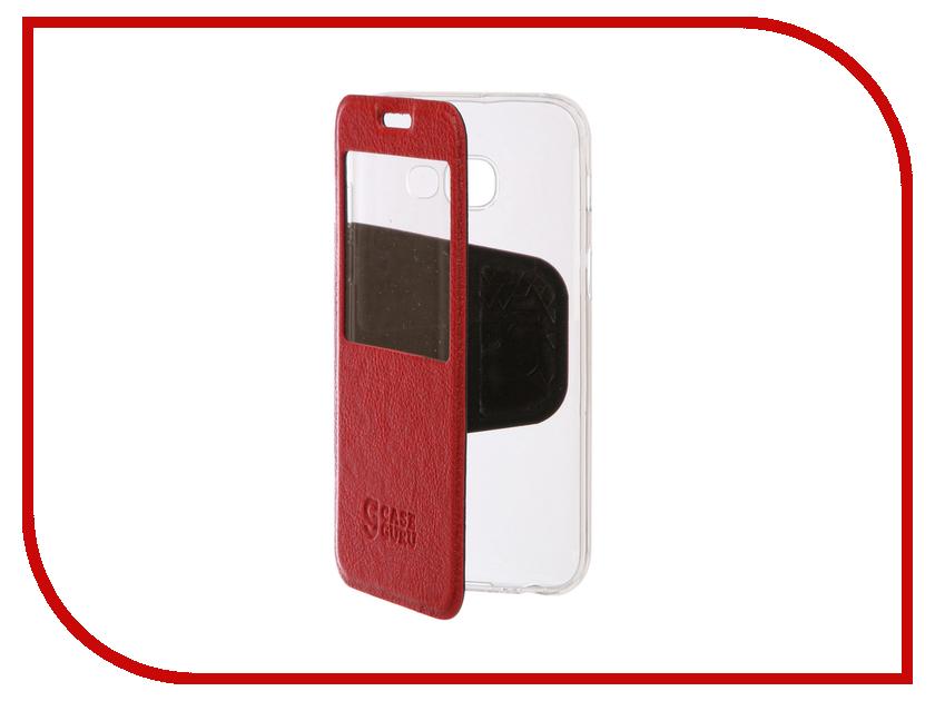 Аксессуар Чехол Samsung Galaxy A3 2017 CaseGuru Ulitmate Case Ruby Red 95476