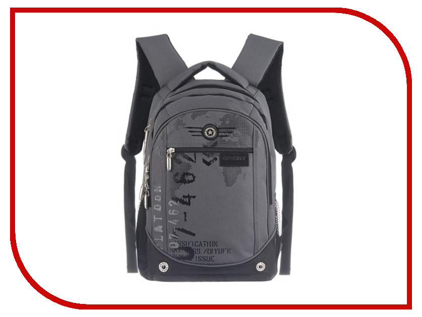 Рюкзак Grizzly RU-501-1 Grey 224869 grizzly gr015bguhx65