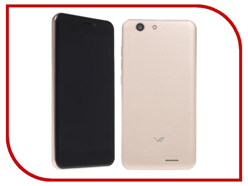 Сотовый телефон Vertex Impress Lion LTE Gold сотовый телефон vertex impress lagune lte black