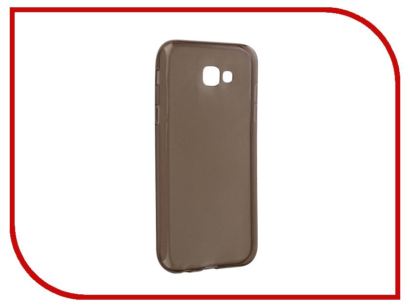 Аксессуар Чехол для Samsung Galaxy A7 2017 Snoogy Creative Silicone 0.3mm Black аксессуар чехол samsung galaxy a7 2017 with love moscow silicone bananas 5074