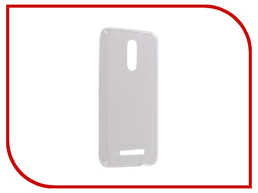 Аксессуар Чехол Xiaomi Redmi Note 3 Snoogy Creative Silicone 0.3mm White аксессуар защитное стекло xiaomi redmi note 3 onext eco 43077