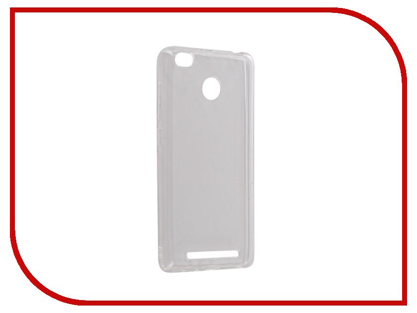 Аксессуар Чехол Xiaomi Redmi 3 Pro Redmi 3S Snoogy Creative Silicone 0.3mm White аксессуар чехол xiaomi redmi 3 3s 3 pro ibox blaze silicone gold frame