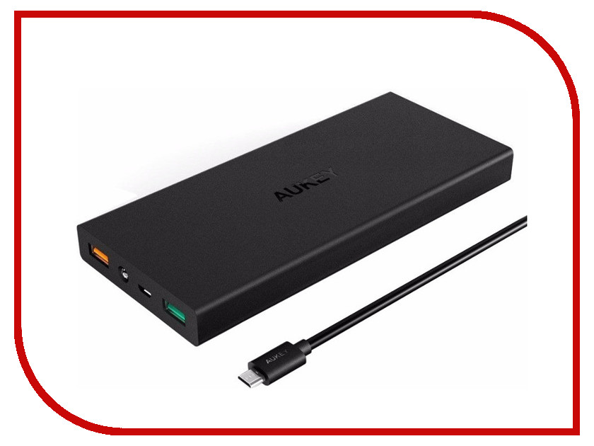 Аккумулятор Aukey 16000mAh Quick Charge 3.0 PB-T9 Black аккумулятор aukey 30000mah quick charge 3 0 pb t11 black