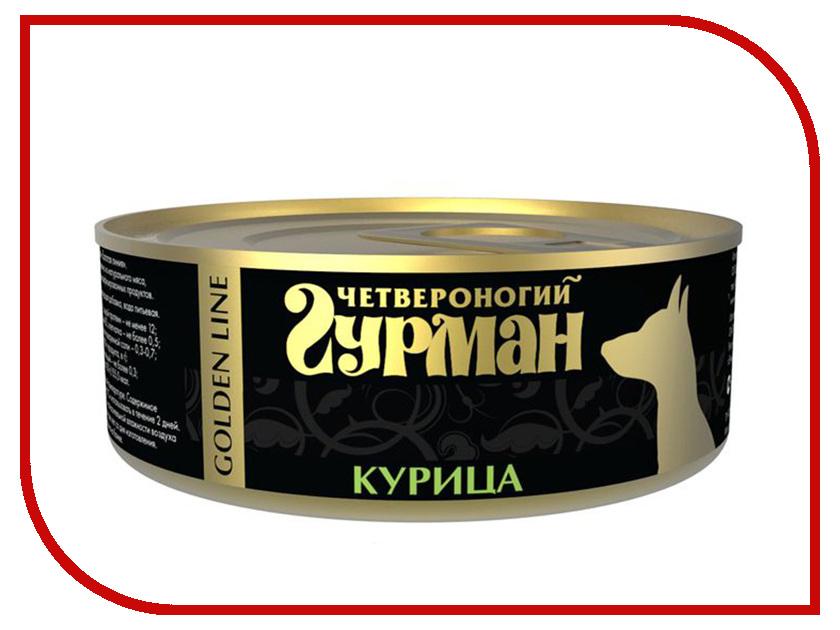 Корм Четвероногий Гурман Голден Курица натуральная в желе 100g для собак 47311