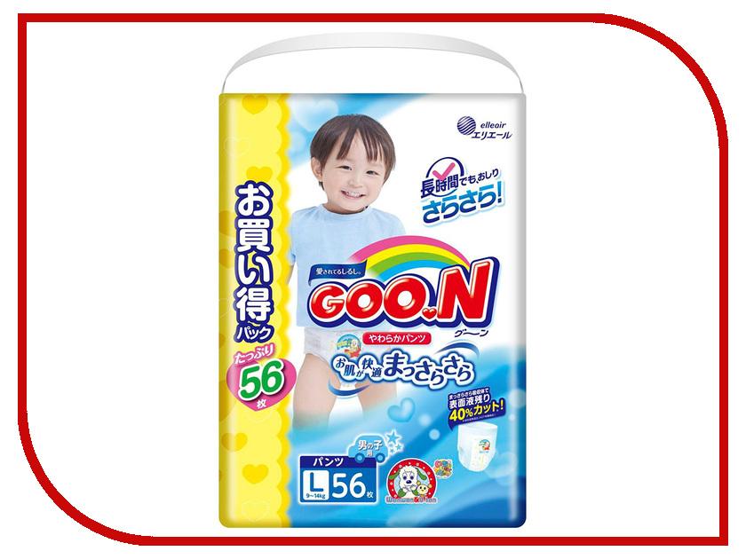 Подгузники Goo.N Ultra Jumbo Pack Трусики 9-14кг 56шт для мальчиков 4902011751512 подгузники genki трусики l 9 14кг 30шт