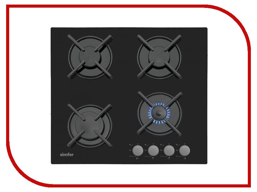 Варочная панель Simfer H60N40B412 встраиваемая газовая варочная панель simfer h 60 m 41 o 412
