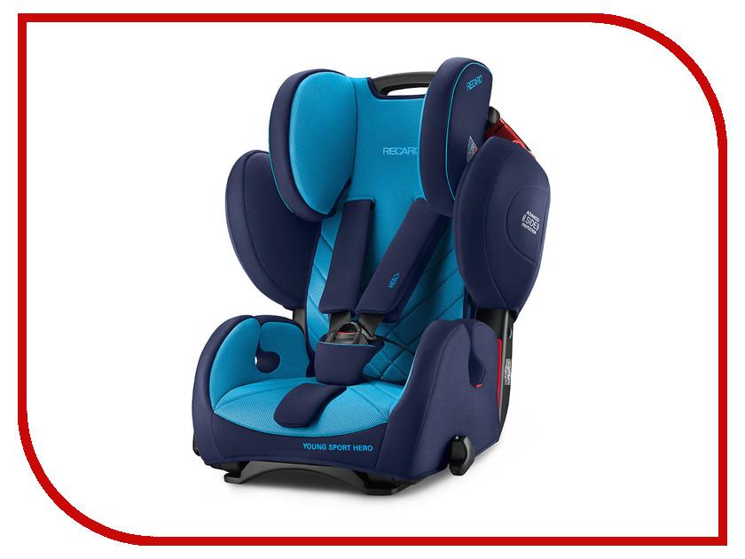 Автокресло группа 1/2/3 (9-36 кг) Recaro Young Sport Hero Xenon Blue автокресло recaro zero 1 elite xenon blue