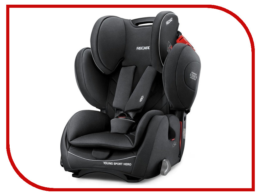 Автокресло группа 1/2/3 (9-36 кг) Recaro Young Sport Hero Perfomance Black recaro young sport hero