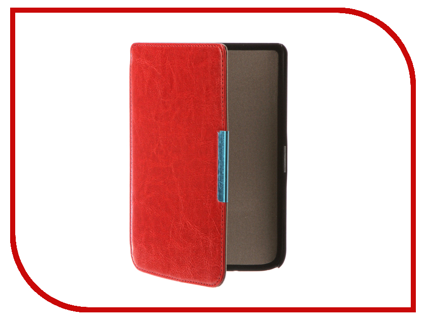 Аксессуар Чехол for PocketBook 614/615/624/625/626 TehnoRim Slim Red TR-PB626-SL01RD