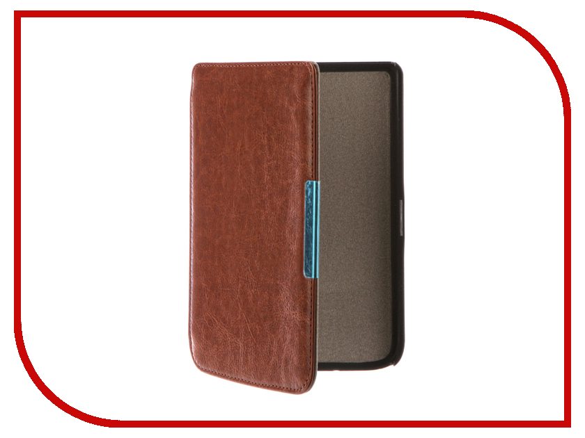 Аксессуар Чехол for PocketBook 614/615/624/625/626 TehnoRim Slim Brown TR-PB626-SL01BR аксессуар чехол for pocketbook 626 tehnorim origami black tr pb626 or01bl