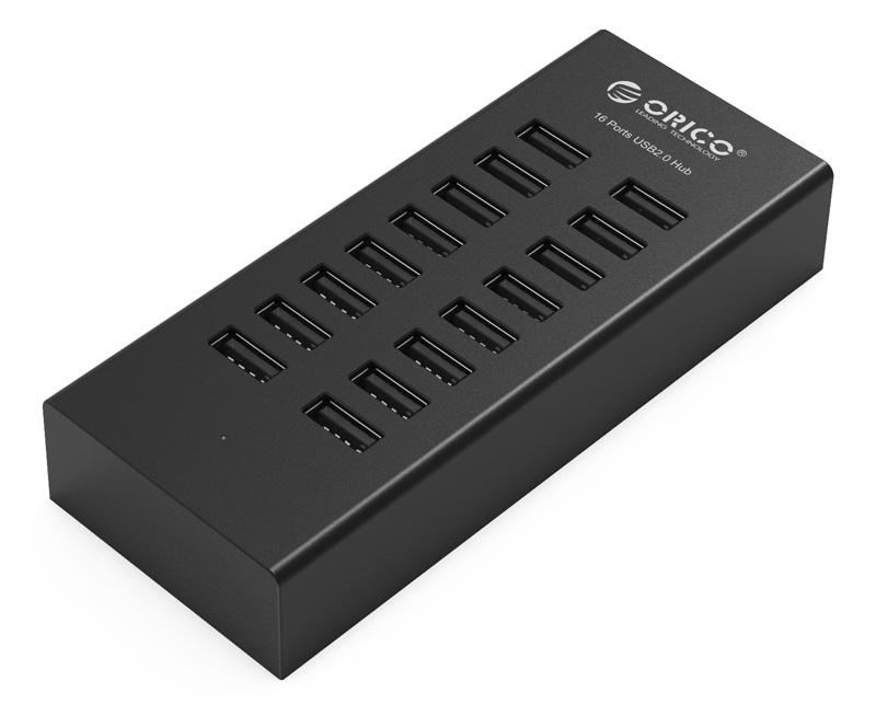 Хаб USB Orico H1613-U2-BK 16-Ports