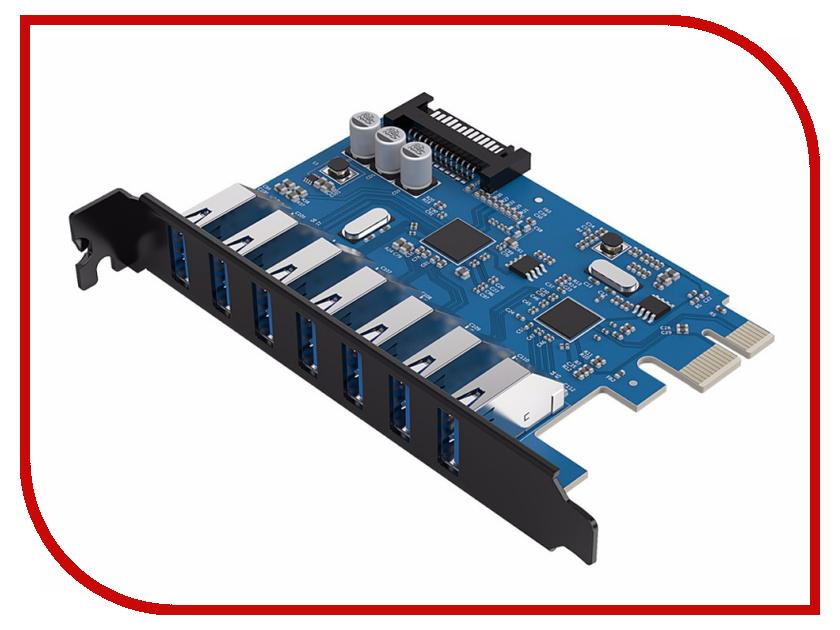 Контроллер Orico PCI-Express PVU3-7U контроллер pci e orico pvu3 2o2i 2xusb 3 0