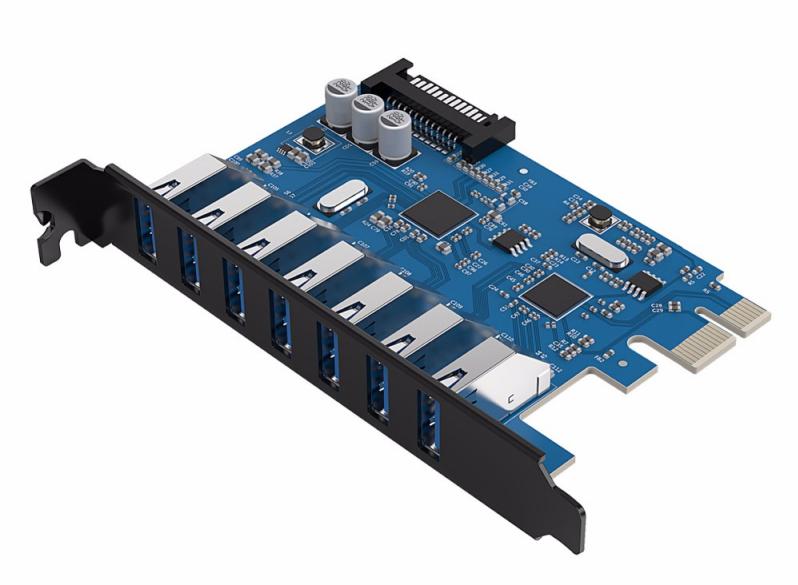 Контроллер Orico PCI-Express PVU3-7U