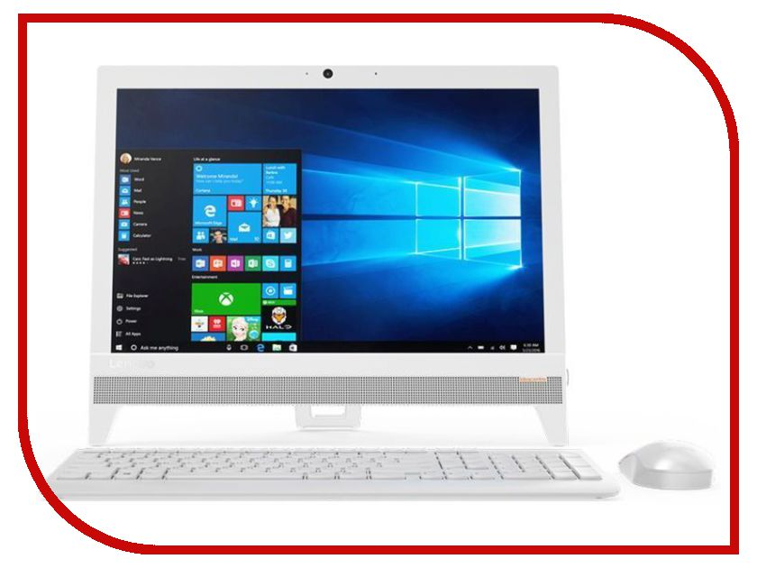 Моноблок Lenovo IdeaCentre 310-20IAP White F0CL005DRK (Intel Celeron J3355 2.0 GHz/4096Mb/500Gb/Intel HD Graphics/19.5/1440x900/DOS) моноблок цена купить