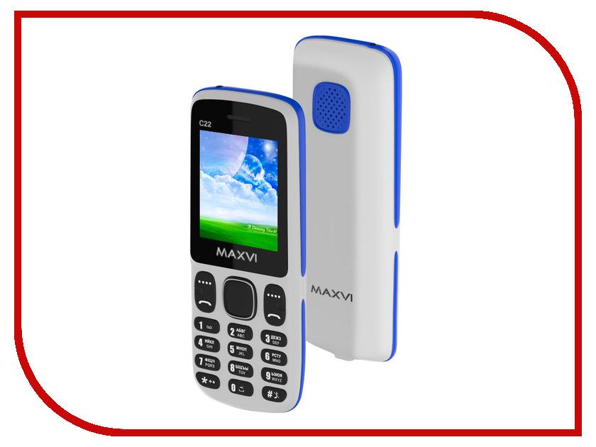 Сотовый телефон Maxvi C22 White-Blue сотовый телефон maxvi c20 blue