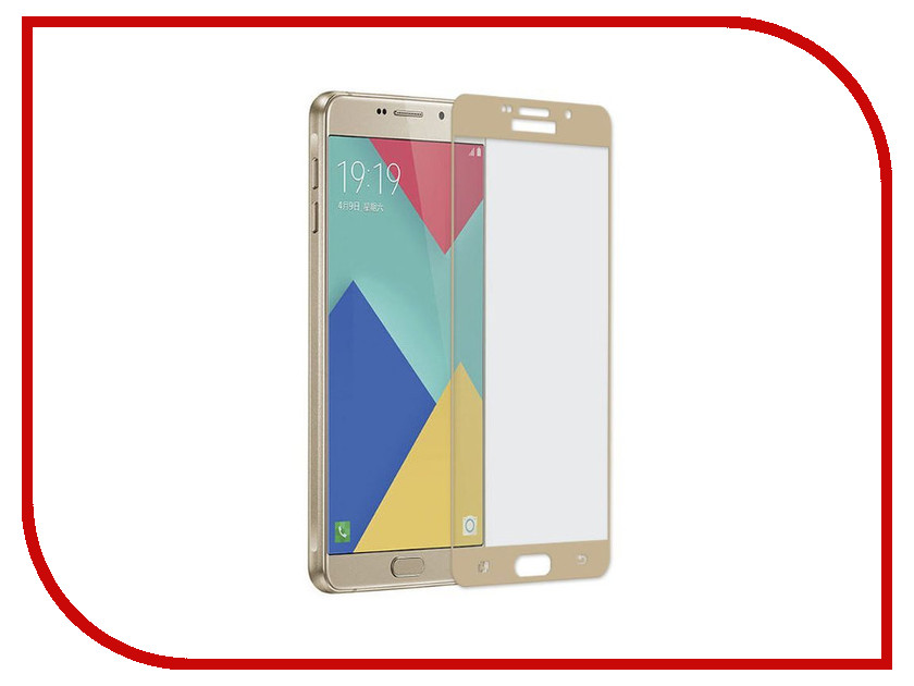 Аксессуар Защитное стекло Samsung Galaxy A310 A3 2016 Gecko 5D 0.26mm Gold ZS26-GSGA3-2016-5D-GOLD 10 1 inch for lenovo yoga tablet 2 1050 1050f lcd display screen with touch screen sensor digitizer full assembly