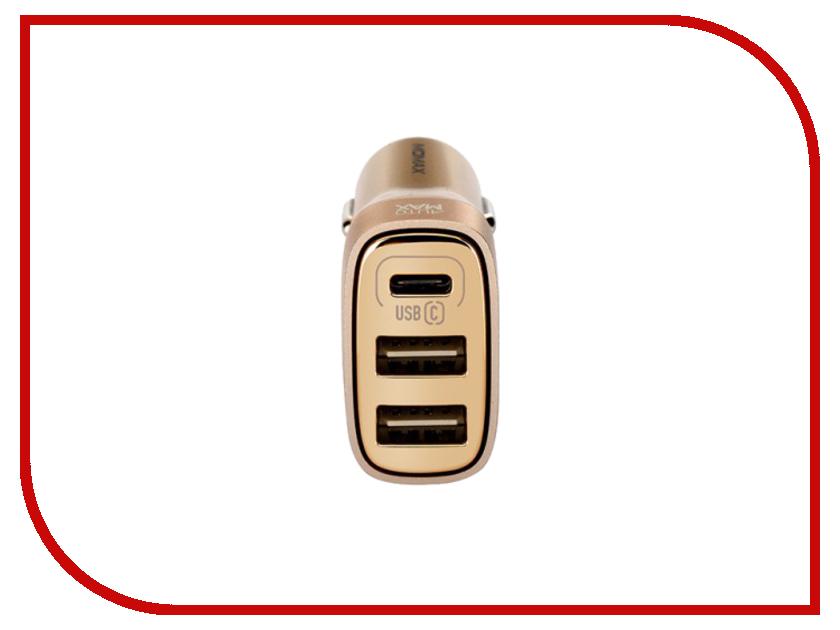 Зарядное устройство MOMAX Elite Type-C 3xUSB 5.4A UC5T Gold
