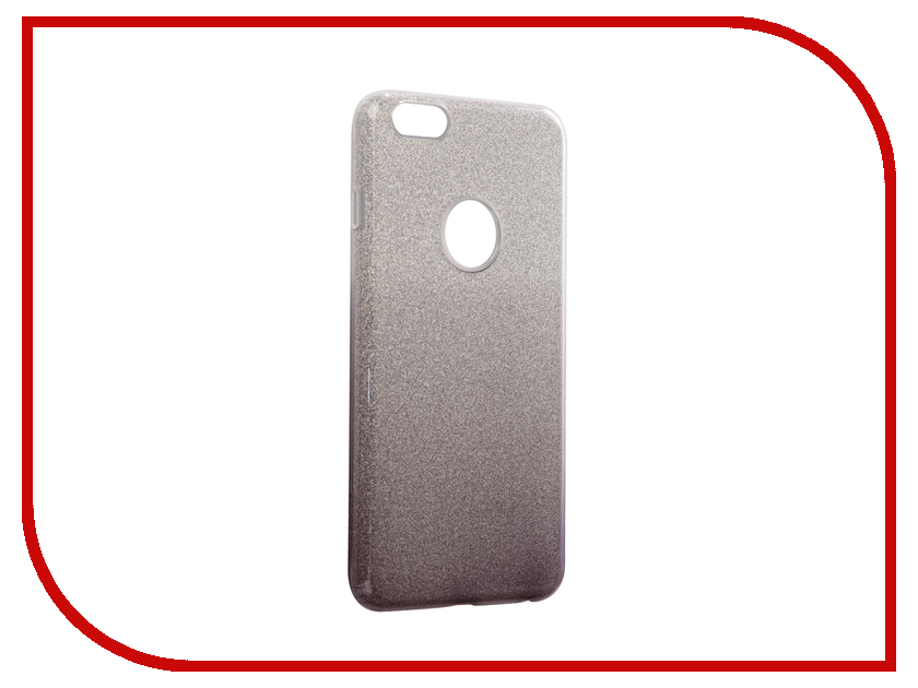 Аксессуар Чехол Rock Space Shiny для APPLE iPhone 6/6s Plus Transparent-Black 11957