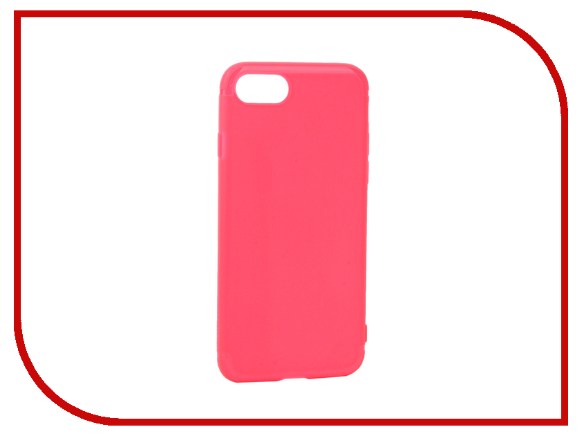 Аксессуар Чехол Rock Space Jello для APPLE iPhone 7 Pink-Red 38602