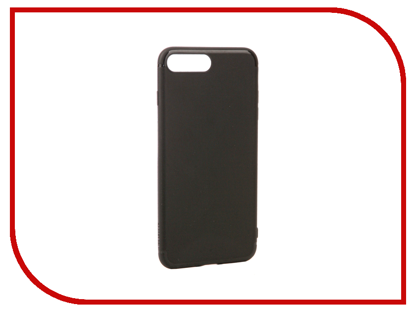 Аксессуар Чехол ROCK Space Jello для APPLE iPhone 7 Plus Black 38619 аксессуар чехол rock space guard g2 для iphone 7 plus transparent white 47475