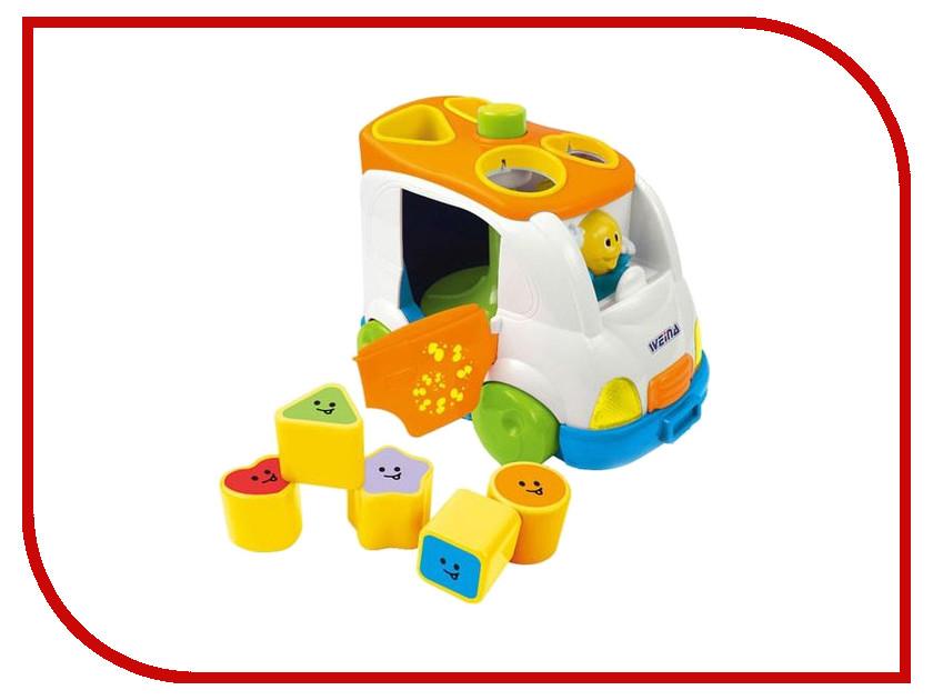 Сортер Weina 2071 Музыкальный вагончик 4893062020712 развивающая игрушка weina weina каталка сортер грузовичок
