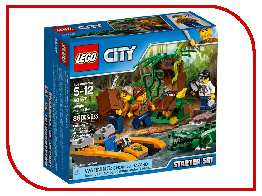 Конструктор Lego City Jungle Explorer Джунгли 60157