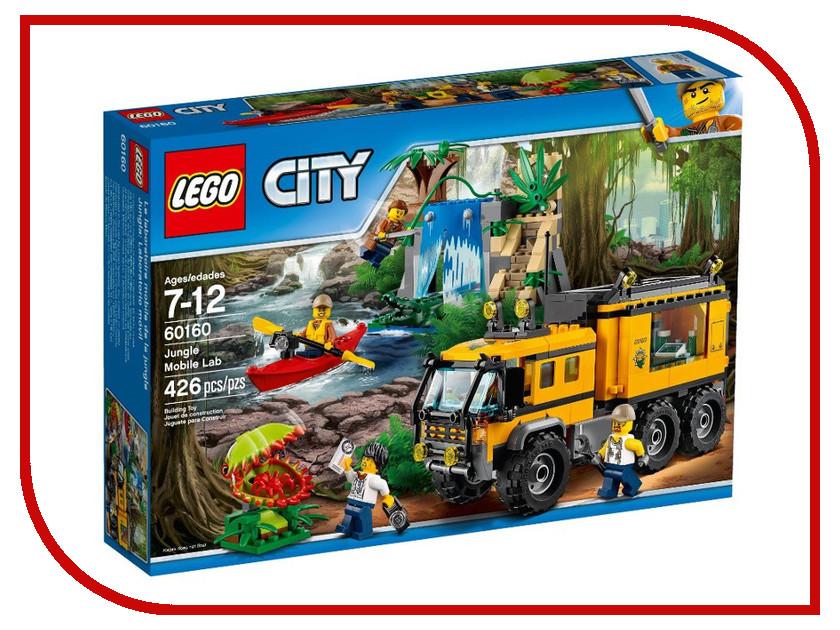 Конструктор Lego City Jungle Explorer Передвижная лаборатория в джунглях 60160 lego city конструктор внедорожник каскадера 60146