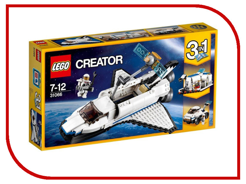 цена Конструктор Lego Creator Исследовательский шаттл 31066