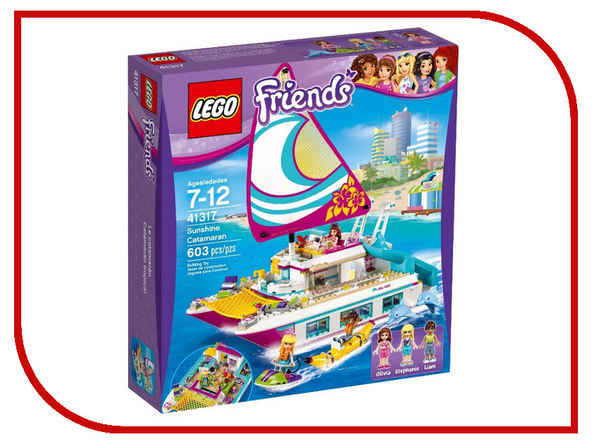 Конструктор Lego Friends Катамаран Саншайн 41317 figures houses girl friends stephanie mia olivia andrea emma andrea blocks learning toy gift compatible with with friends gift