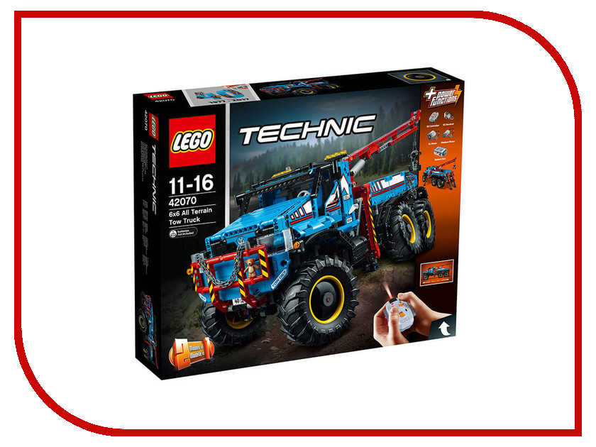 Конструктор Lego Technic Аварийный внедорожник 42070 тюбинг belon тент оранжевый св 004 т2 счо оранжевый пвх