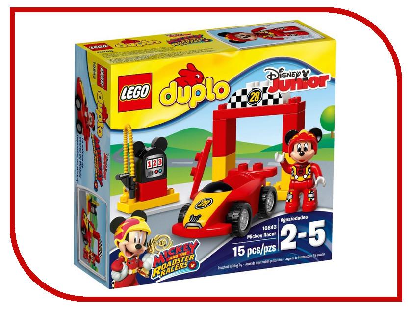 Конструктор Lego Duplo Disney Гоночная машина Микки 10843 lego duplo my first конструктор мои первые домашние животные 10858